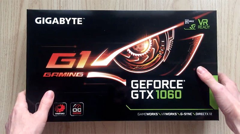Gigabyte GTX 1060 G1 Gaming OC Edition - Unboxing. Great GPU for mining