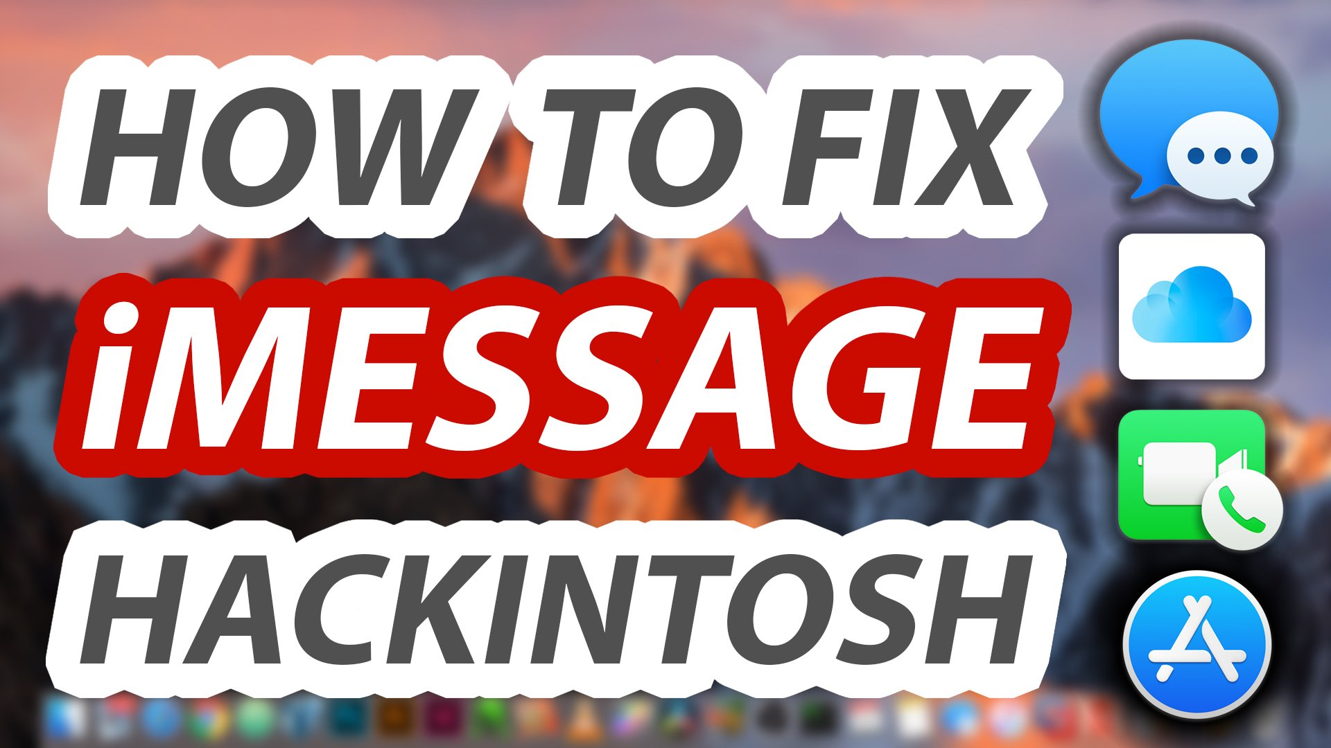 How to Fix iMessage FaceTime iCloud on Hackintosh - Step By Step TUTORIAL 2018