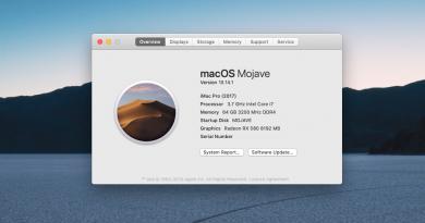 macOS Mojave update 10.14.1