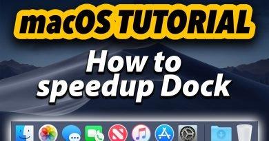macOS Tutorial | How to Speedup Dock