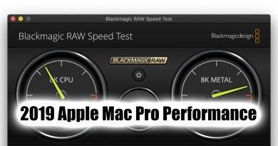 2019 Apple Mac Pro Blackmagic RAW performance